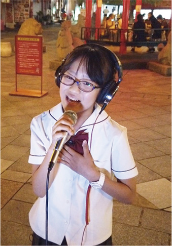 第32回こども部門金賞受賞の森本安音さんがテレビに出演しました。